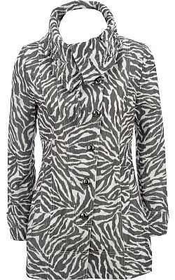 Black Rivet Zebra♥ Print Fabric Jacket - Wilsons Leather