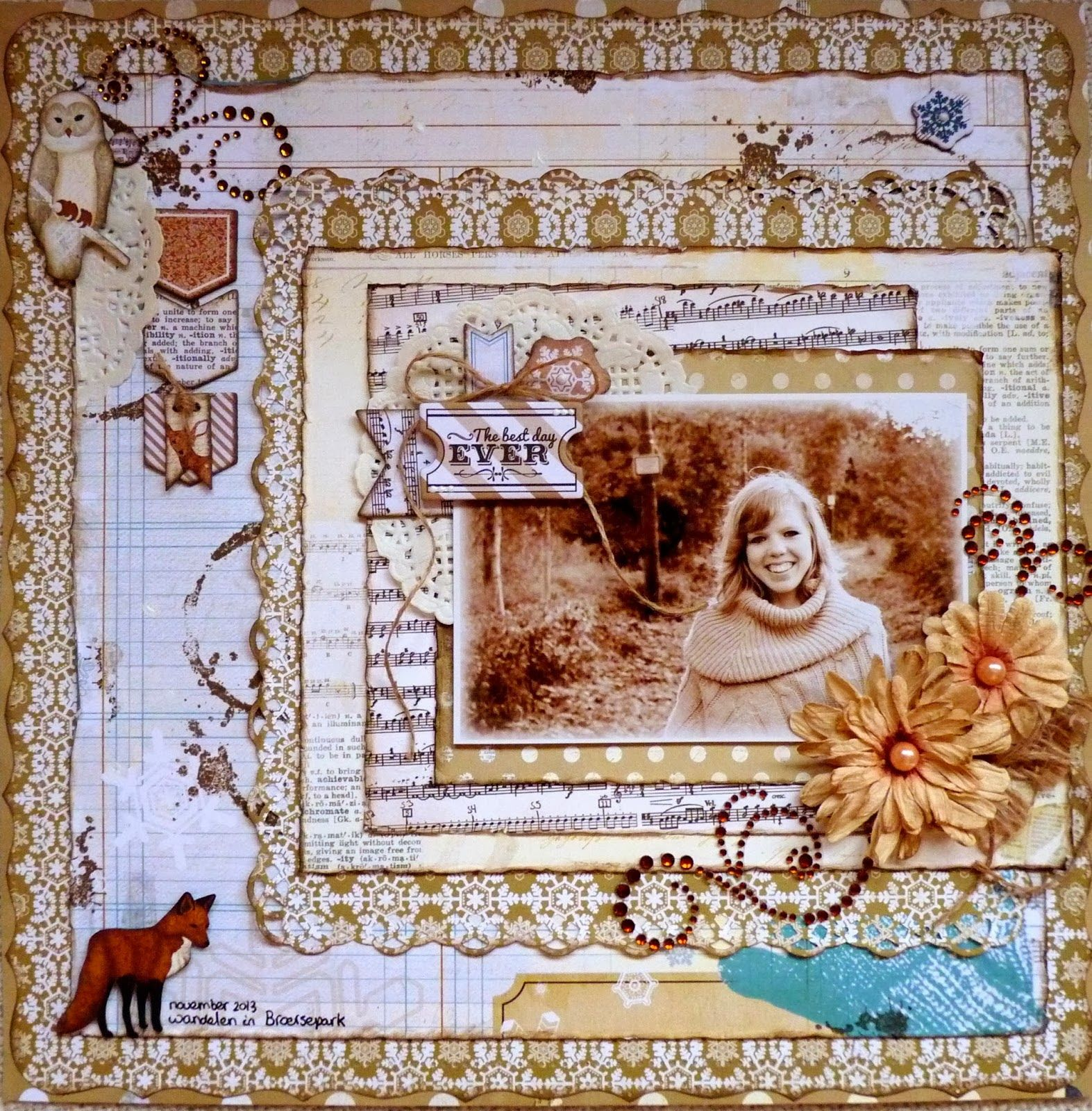 """Made this lay-out for Bo Bunny with their fabulous """"Winter Woodland"""" collection."""