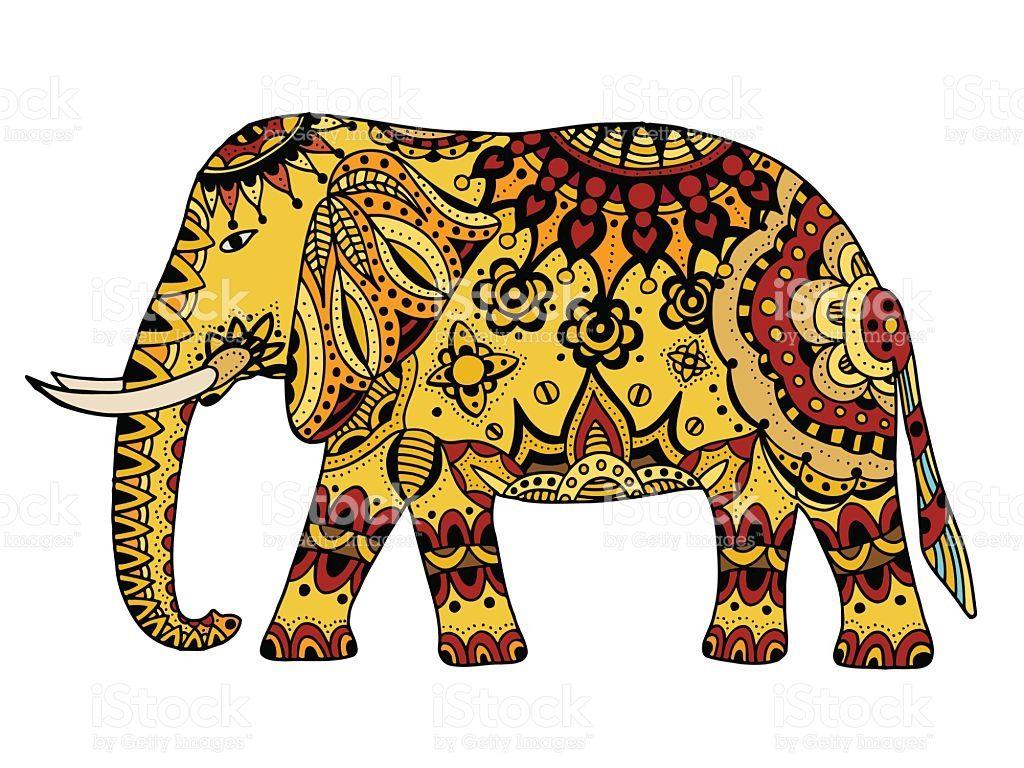Resultado De Imagen De Elefante Dibujo Indio Cuadros Elefantes Imagen Elefante Elefante Colorido