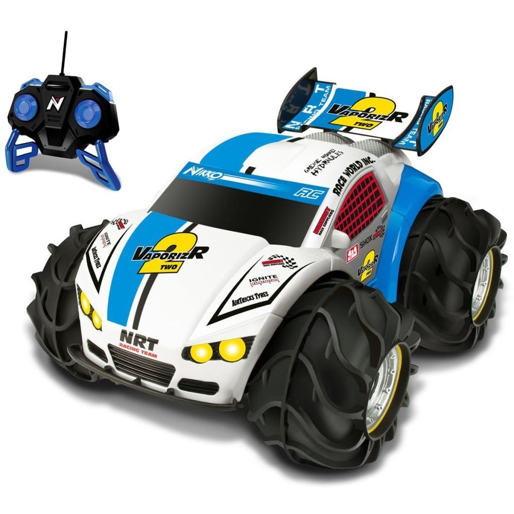 Remote Controlled Car Blue Colour Battery Operated 4 Wheel Vehicle