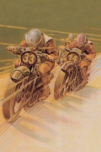 Motorcycle Racing Posters At Allposters Com Vintage Motorcycle Posters Motorcycle Posters Motorcycle Art