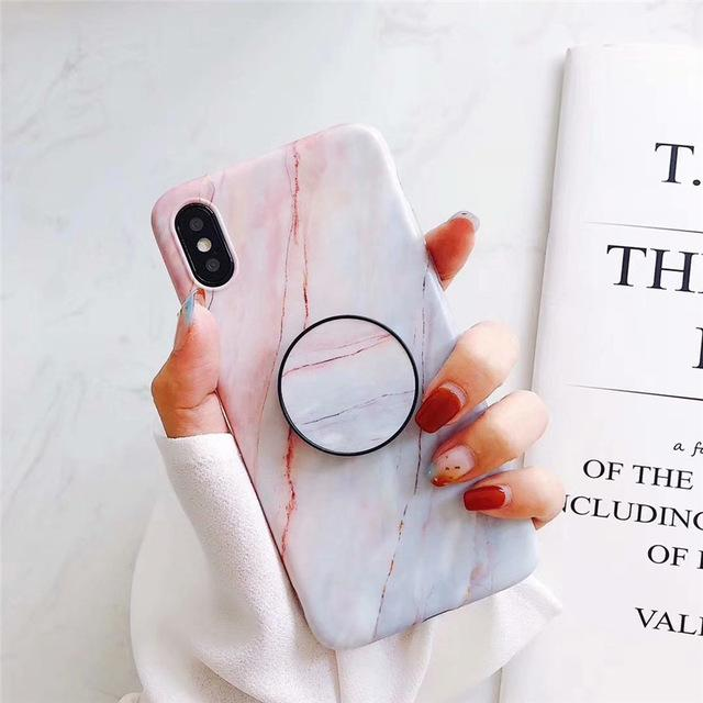 funda iphone con popsocket