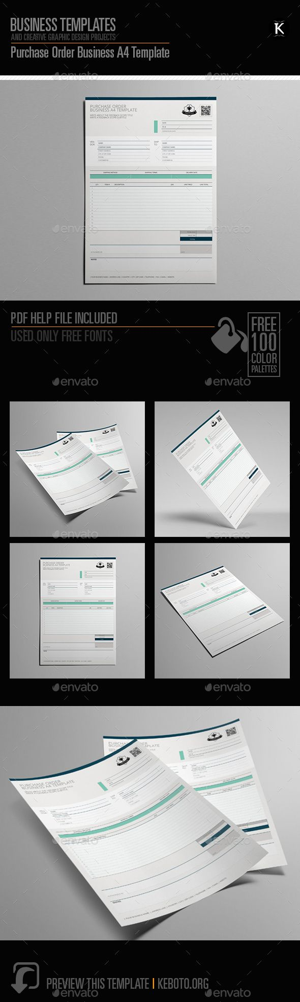 Purchase Order Business A4 Template Miscellaneous