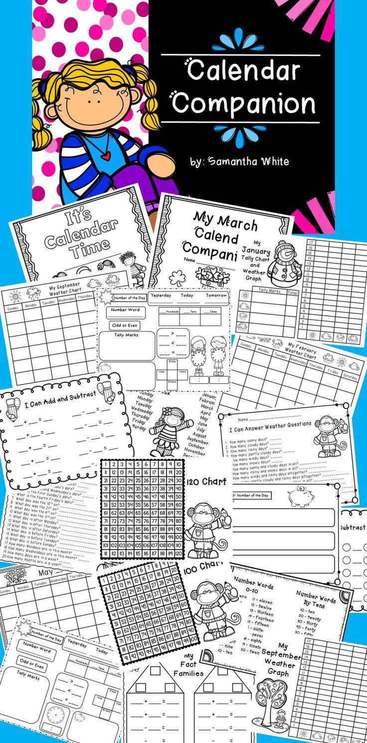 Calendar Companion {K-2} | Daily calendar, Math and Math resources