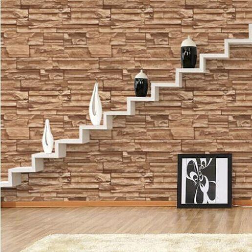 Brick Spin Room 3d Wallpaper Stone Brick Design
