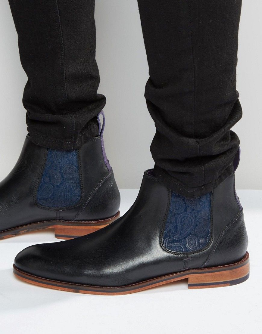 ad5377823 TED BAKER CAMROON LEATHER CHELSEA BOOTS - BLACK.  tedbaker  shoes ...