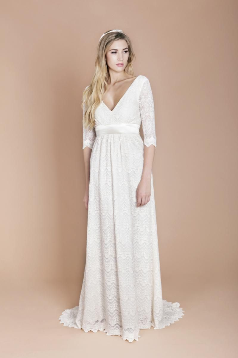 Charley dress bridal dresses long for Wedding dresses with sleeves uk