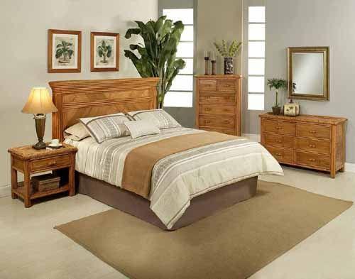 24 Tropical Rattan And Wicker Bedroom, Rattan Bedroom Furniture