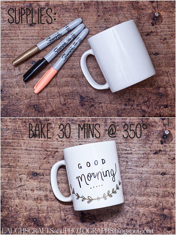 DIY: Personalized Coffee Mugs | Laughs, Crafts & Photographs #mugart