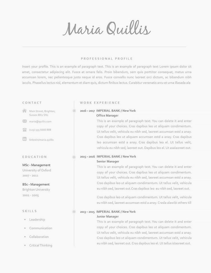 10++ Best looking resumes templates Resume Examples