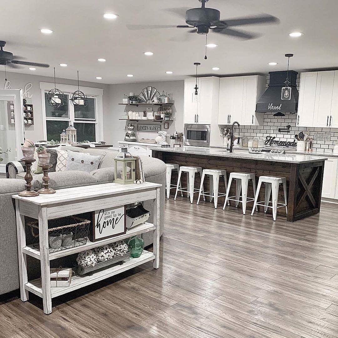 "Farmhouse Home on Instagram: ""We can't get over this beautiful farmhouse kitchen! ❤️ Do you like this color scheme? 👀 We love it! Makes everything look so clean! 😍 TAG a…"""