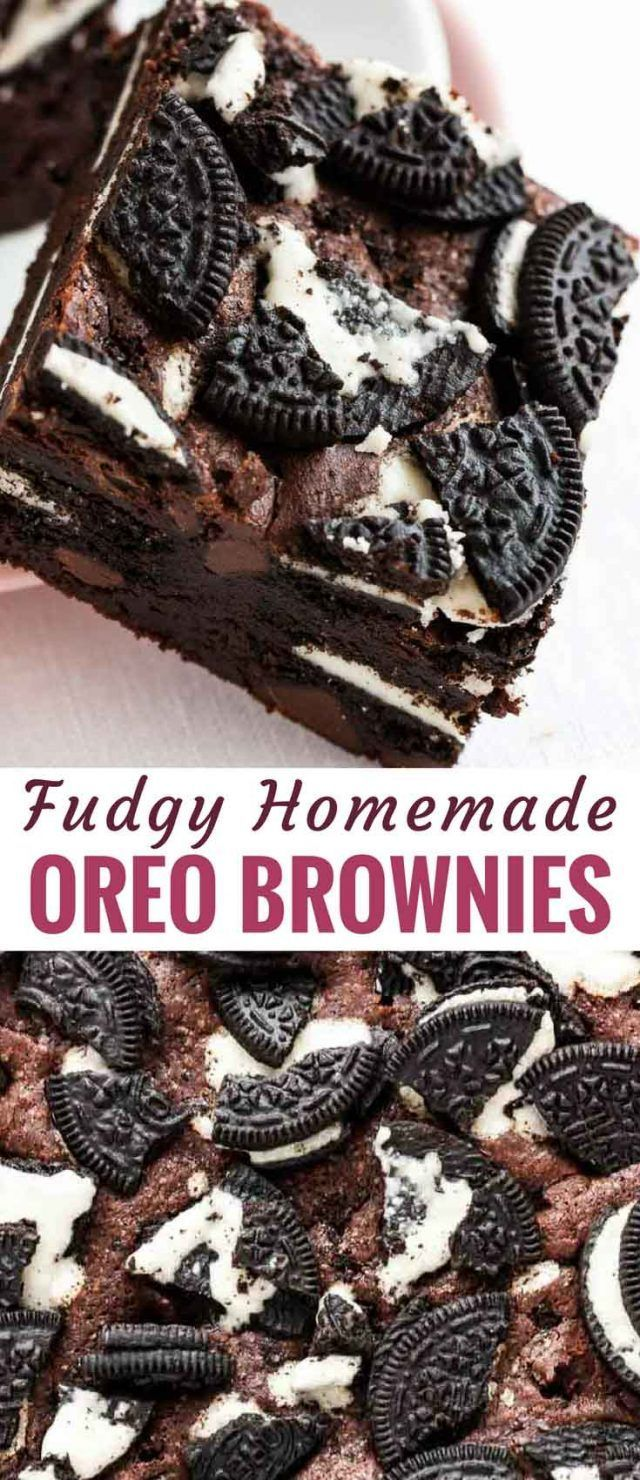 Oreo Brownies are fudgy, chocolatey, and out of this world delicious! A rich and...   - Cakes + Sweets -