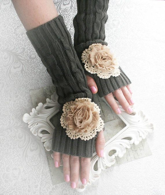 STORMY DAY Victorian arm warmers