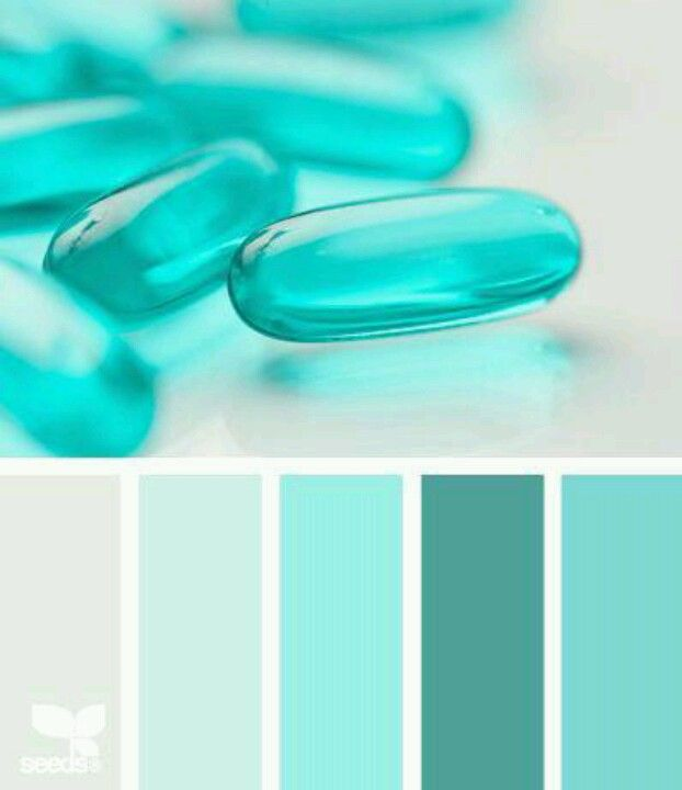 Farbpalette Blau, Sommerfarben, Farbtrends