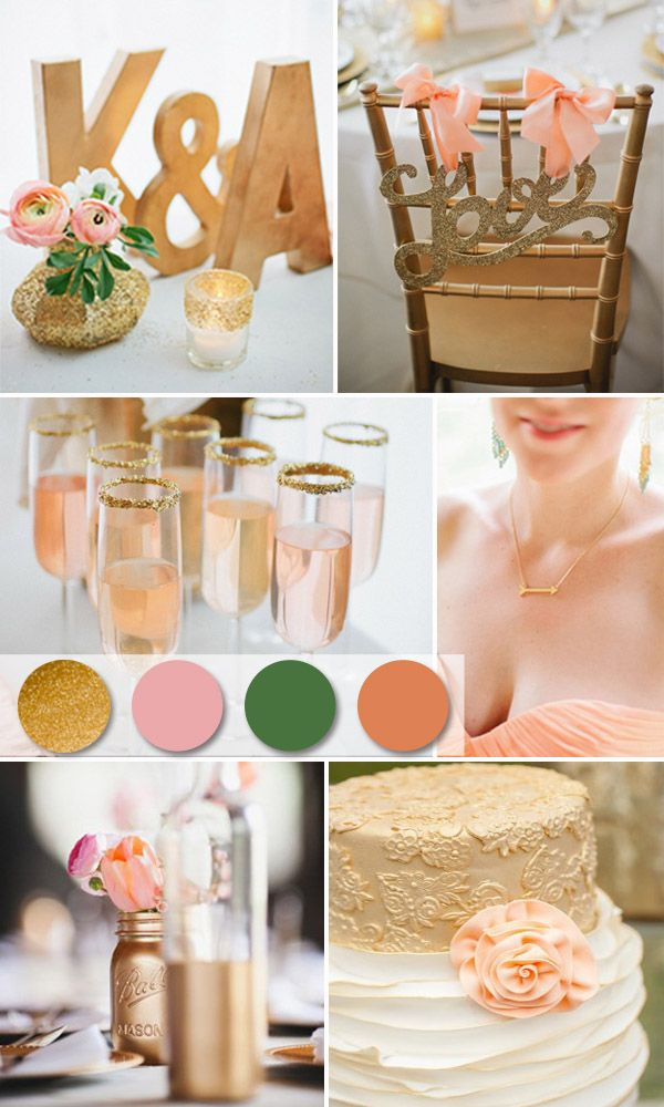 trending gold wedding color ideas and invitations for your big day