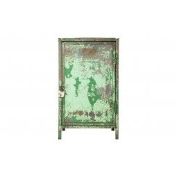 "• this would be a lovely armoire--23.75""W x 19.75""D x 39.75""H  •weathered  •painted finish as found  •circa 1950  •france"