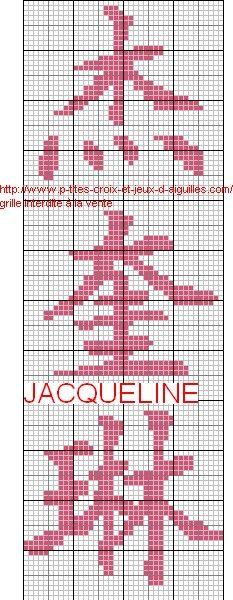 jacqueline chinois grille - Point de croix - Blog : http://broderiemimie44.canalblog.com/ (avec ...