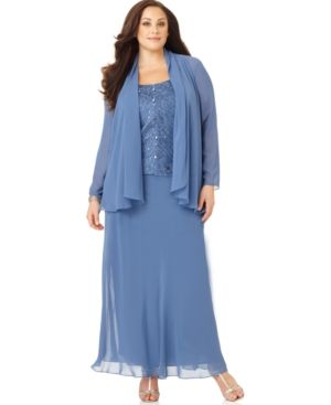 Plus Size Long Evening Jacket
