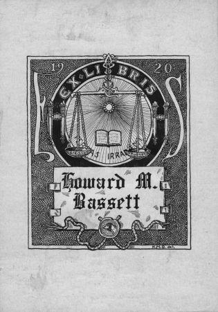 Bookplate creator:  Howard M. Bassett