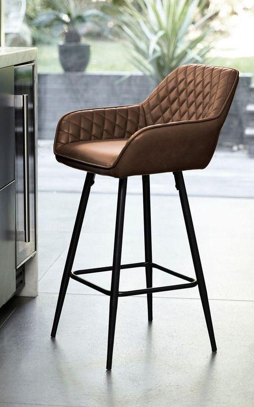 Tremendous Hone Next Hamilton Bar Stool Tan This Brown Leather Bar Cjindustries Chair Design For Home Cjindustriesco