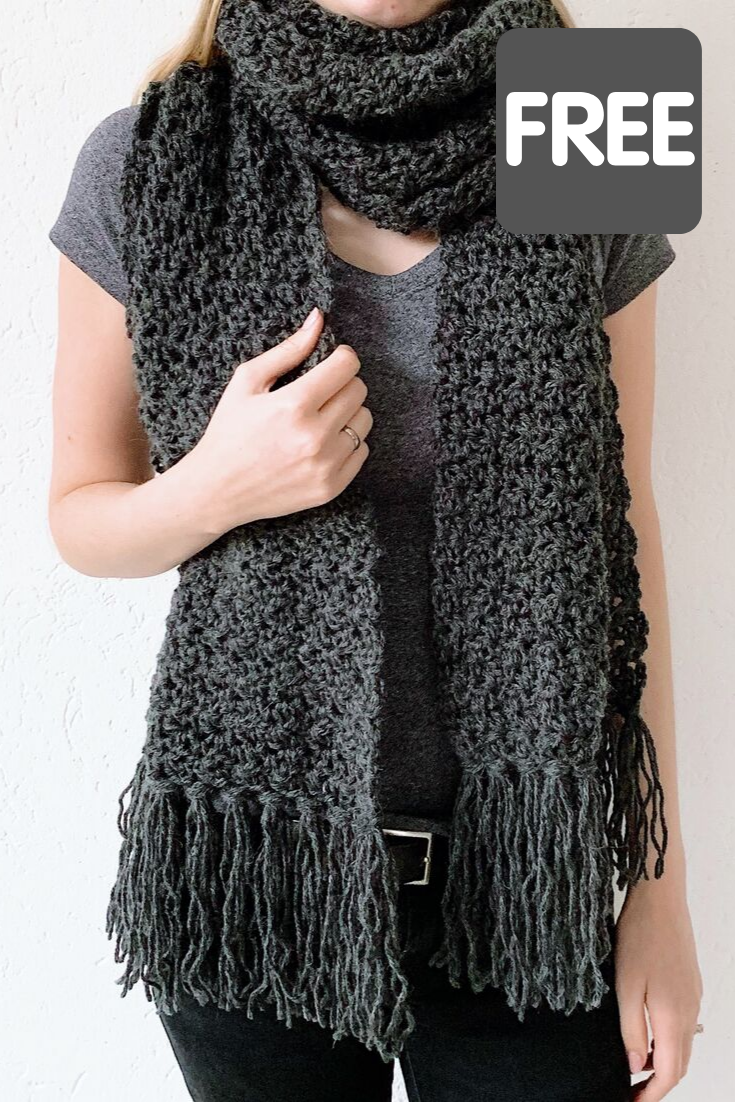 Fast crochet scarf: Awesome Andrea - free crochet pattern by Wilmade