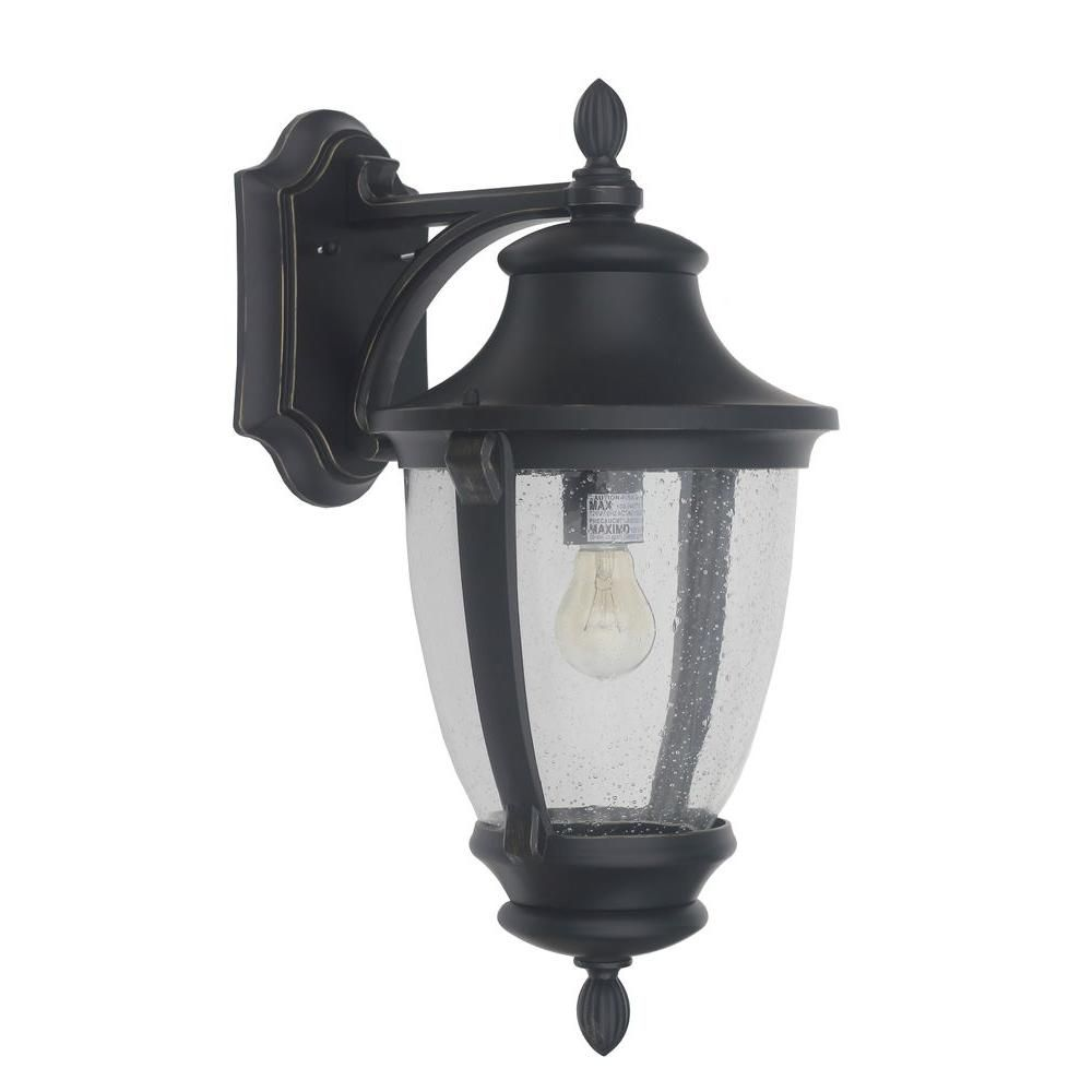 Wilkerson 1-Light Black Outdoor Wall Mount | Outdoor walls, Wall ...