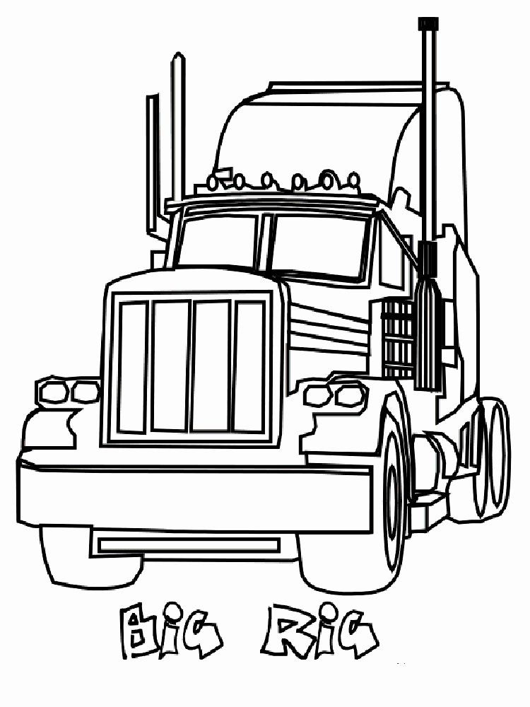 24 Semi Truck Coloring Page 2020 Truck Coloring Pages