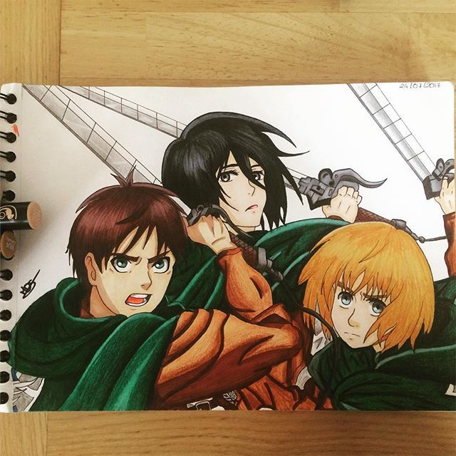 Awesome Anime Art By Mds Draw Using Their Chameleon Pens Chameleonpens Pen Marker Alcoholmarkers Markerpen Colour Color Awesome Anime Anime Marker Art