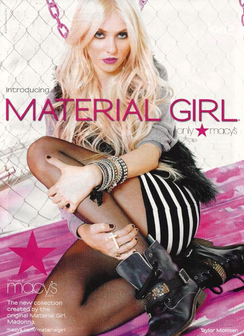 Material Girl By Madonna Model Taylor Momsen With Images