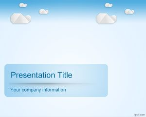 Sky clouds powerpoint template is a free cloud computing powerpoint ppt template toneelgroepblik Image collections