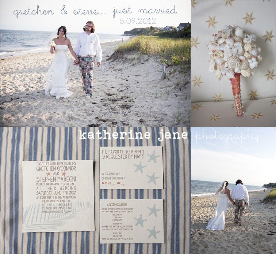 Cape Cod Beach Wedding... I Love The Idea Of Putting Some