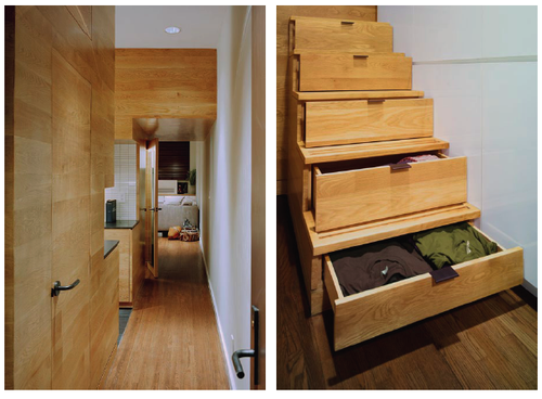 Every Opportunity For Storage Was Exploited Including Drawers Built Into The Stair Risers Cabinets That Go To Ceiling And A New Walk In Closet Under
