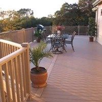 Many Times The Deck Is Wider Then The Longest Decking Board Available So Random Joints Should Be Placed And Staggered Deck Installation Deck Composite Decking