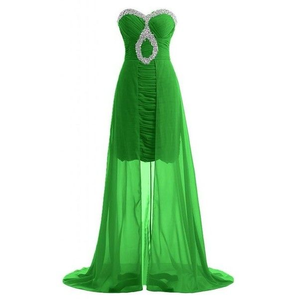 Sunvary Elegant Chic Sweetheart Pageant Dress Long Prom Gowns Party... ($110) ❤ liked on Polyvore featuring dresses, gowns, green evening gown, maxi dress, long sleeve ball gowns, women dresses and masquerade ball gowns