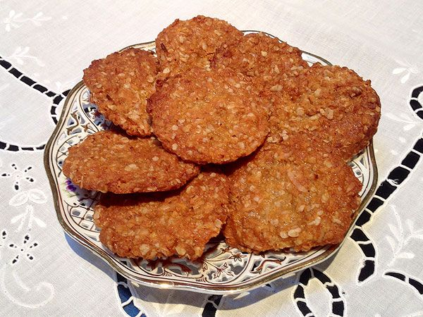"Fit for Prince George: The Official Royal Anzac Biscuit Recipe. ""These look too easy, and too good!"" - Cindy"