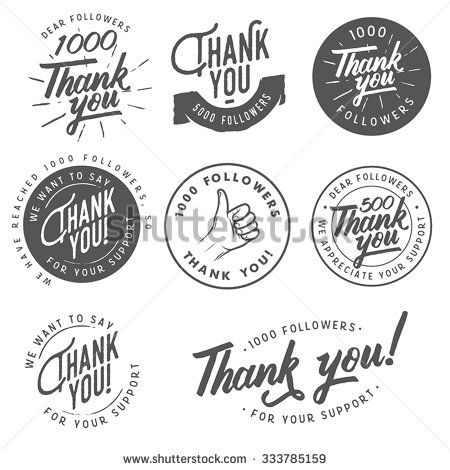 Set of vintage thank you badges labels and stickers модели лого 1000 thank you for your business