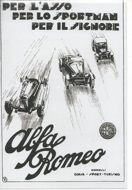 alfa romeo poster  1930