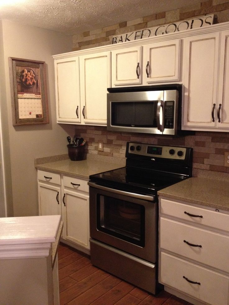 Annie Sloan Old White Kitchen Cabinets For The Home Pinterest How Paint Your Using Kitchen Cabinets Decor Kitchen Cabinets On A Budget Stained Kitchen Cabinets