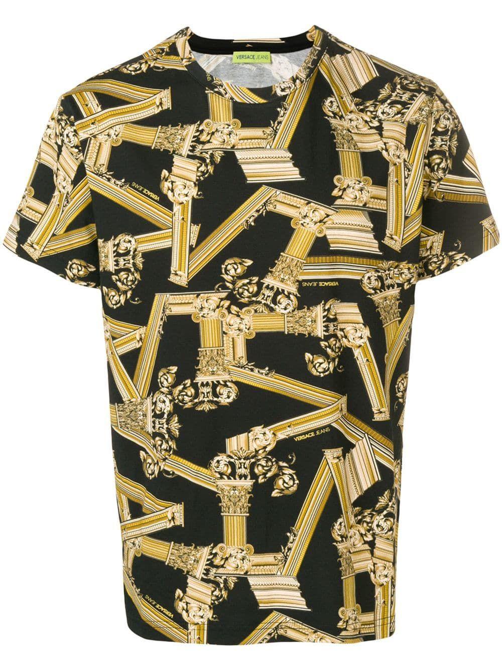 Pillar Print T Shirt Versace Jeans Versace Jeans Shirt Versace