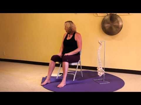 1 hour chair yoga class  gentle yoga therapy for neck and