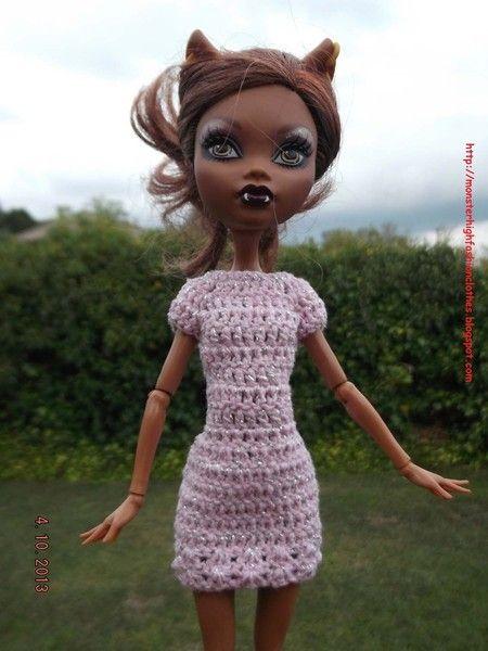 Ropa para muñecos - Ropa Monster High: v93 - hecho a mano por mamimonster en DaWanda