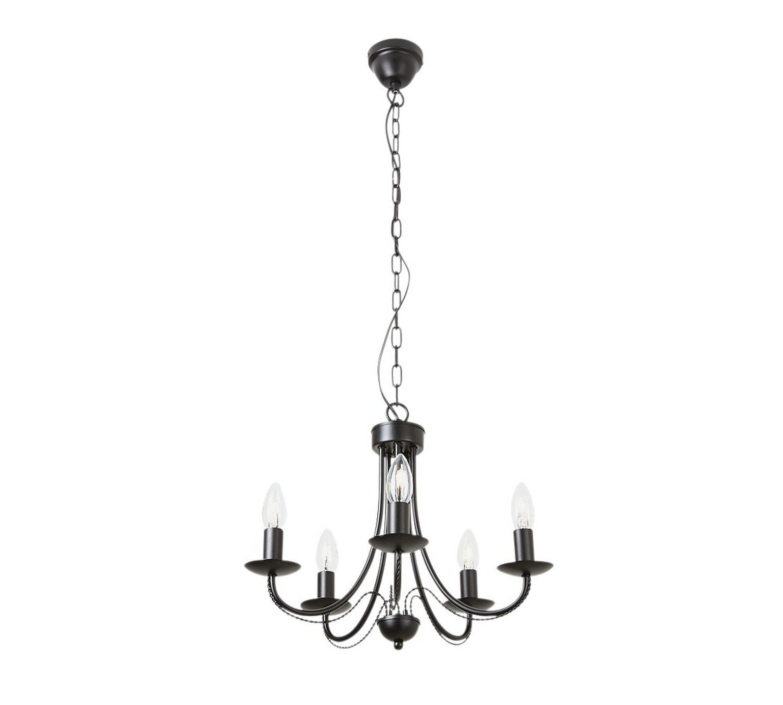 Buy collection twirl 5 light twist chandelier black at argos buy collection twirl 5 light twist chandelier black at argos aloadofball