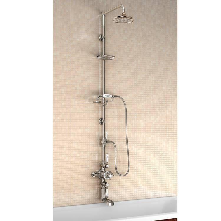 Burlington Avon Thermostatic Shower Valve, Rigid Riser & 9 ...