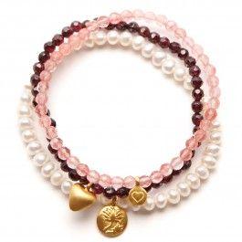 Satya Jewelry Bracelet Set Pink J1avttnpar