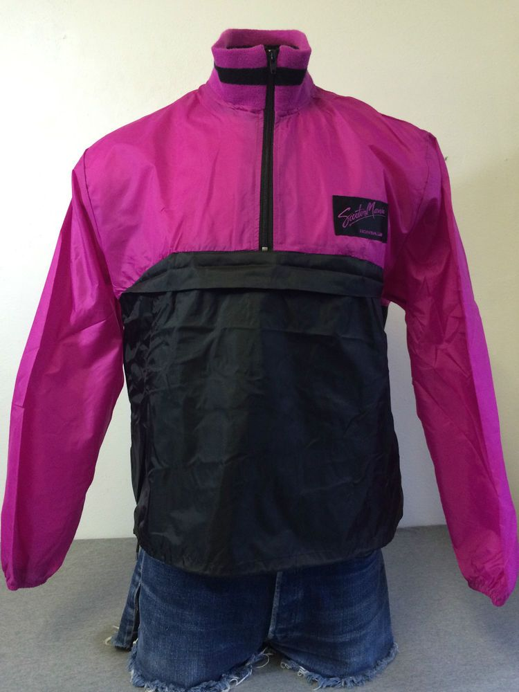HONDA LINE Jacket 80's Vintage Windbreaker SCOOTER MANIA Neon ...