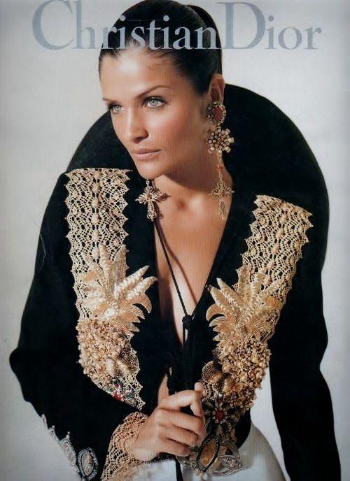 Helena Christensen for Christian Dior