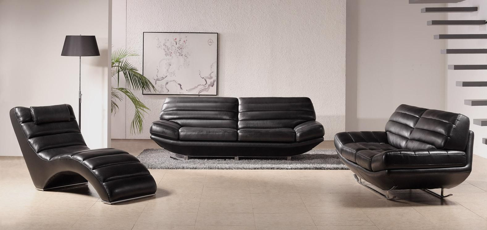 Black Modern Furniture contemporary living room ideas with sofa sets:mesmerizing interior