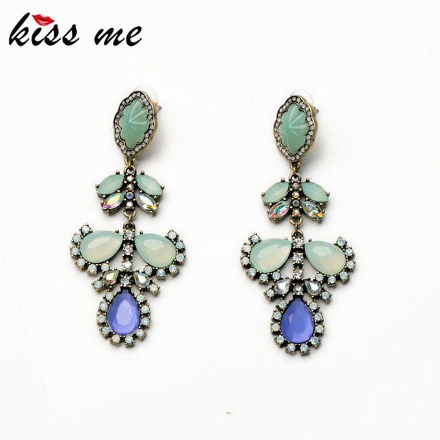 4,15€ - Earrings Jewelry Newest 2014 Fashion Resin Tear Drop Dangle Earrings for Women - ShiJie Jewelry Factory