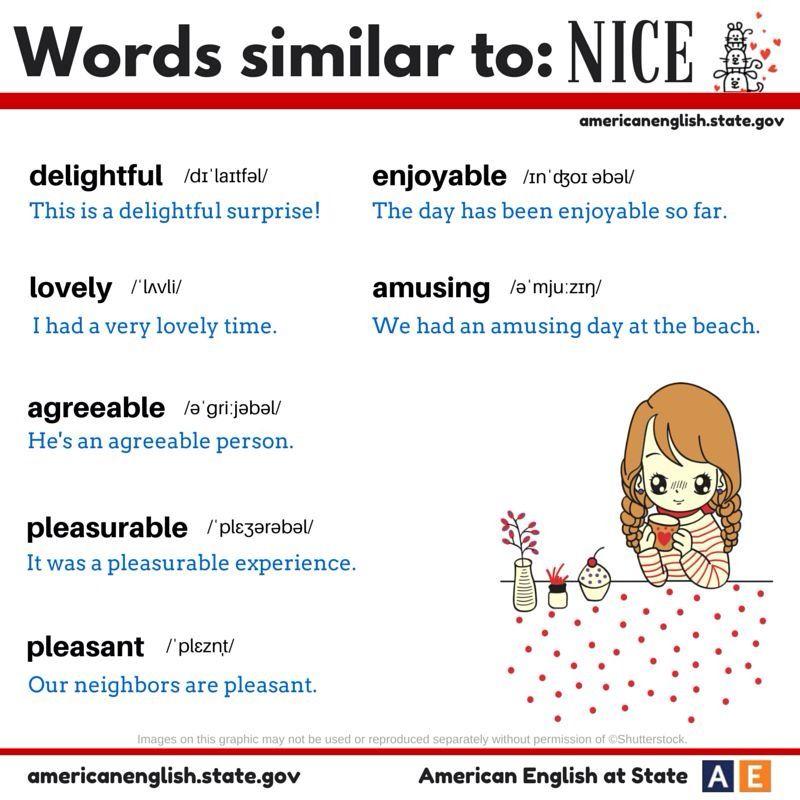 Synonyms Of Nice English Phrases English Vocabulary Words English Vocabulary