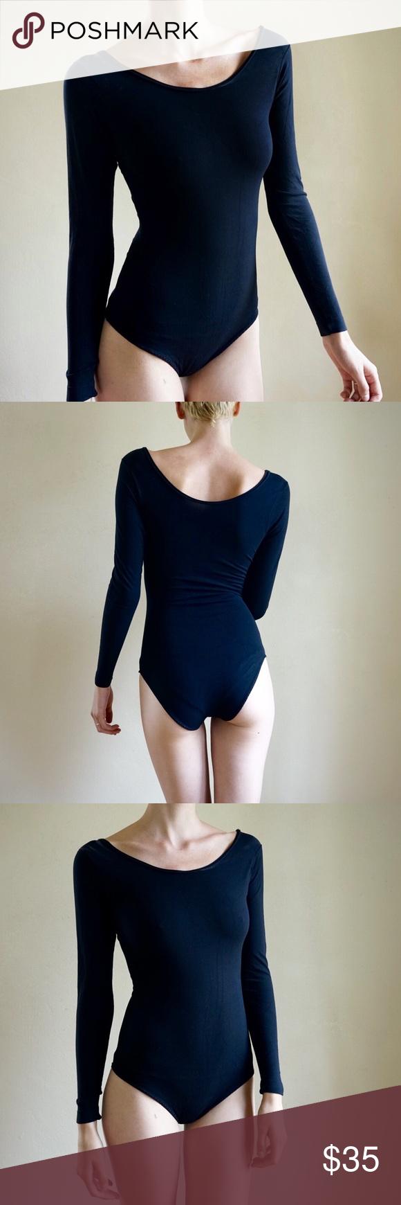 49f2835f79c Vintage black bodysuit Vintage long sleeve bodysuit from Sears. Made of  100% nylon